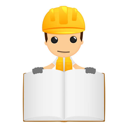 literary characters: funny cartoon builder Illustration