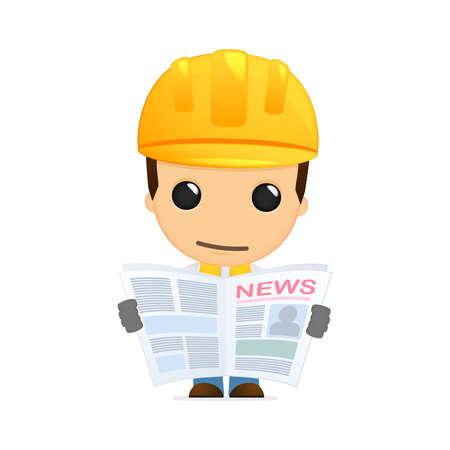 funny cartoon builder Stock Vector - 13312644