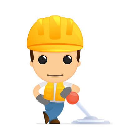 palanca: constructor de divertidos dibujos animados Vectores