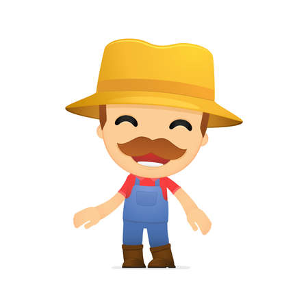 funny cartoon farmer Stock Vector - 13429265
