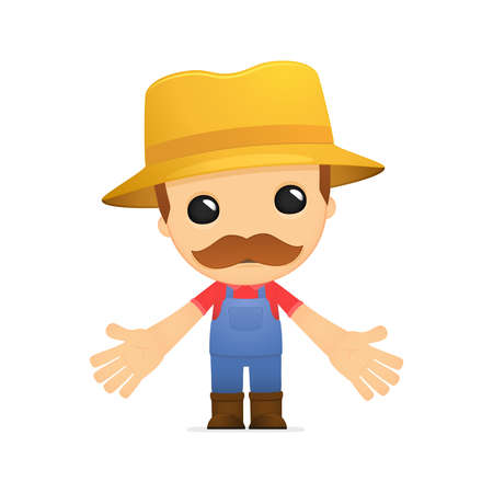 funny cartoon farmer Stock Vector - 13429254