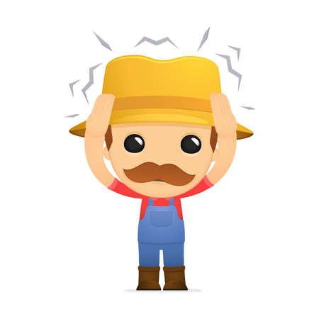 funny cartoon farmer Stock Vector - 13429278