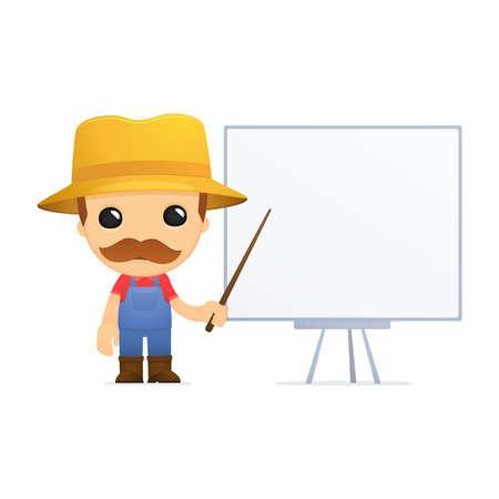 funny cartoon farmer Stock Vector - 13429369