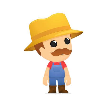 農家: 面白い漫画の農夫