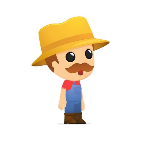 funny cartoon farmer Stock Vector - 13429304