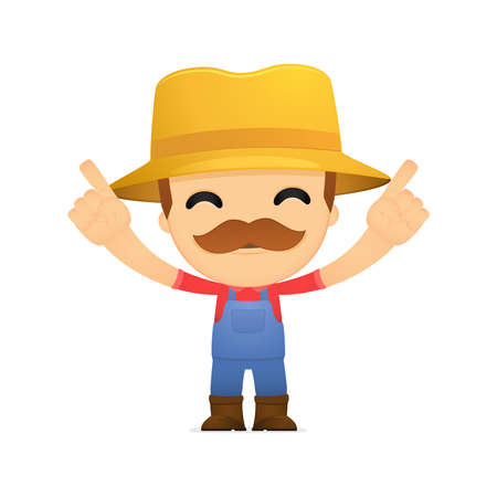 funny cartoon farmer Stock Vector - 13429266
