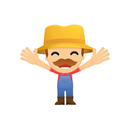 funny cartoon farmer Stock Vector - 13429232