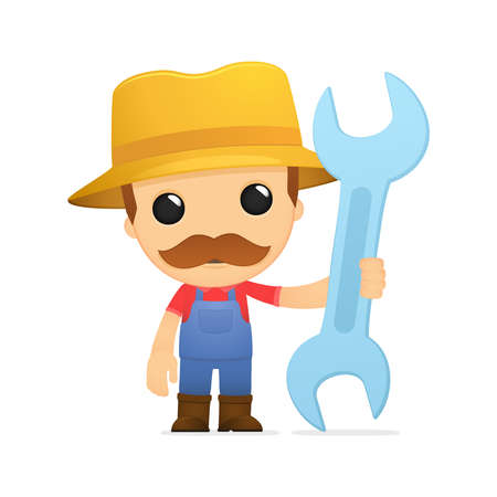 funny cartoon farmer Stock Vector - 13429355