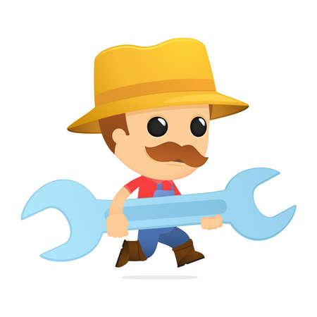 funny cartoon farmer Stock Vector - 13429331