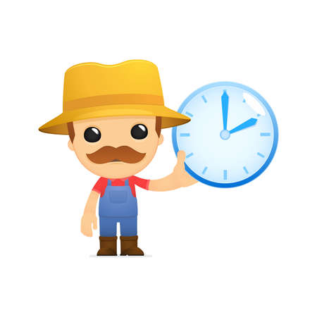 funny cartoon farmer Stock Vector - 13429373