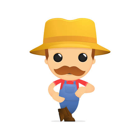 funny cartoon farmer Stock Vector - 13429308