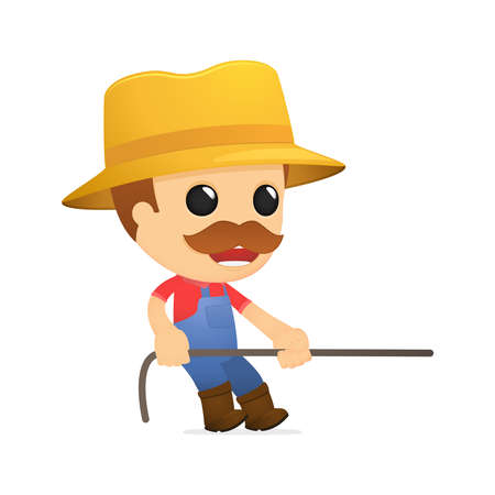 funny cartoon farmer Stock Vector - 13429348