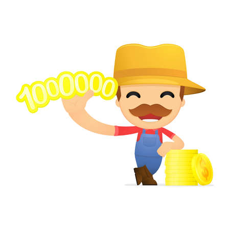 funny cartoon farmer Stock Vector - 13429576