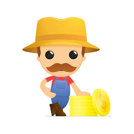 funny cartoon farmer Stock Vector - 13429539