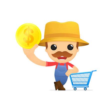 funny cartoon farmer Stock Vector - 13429537