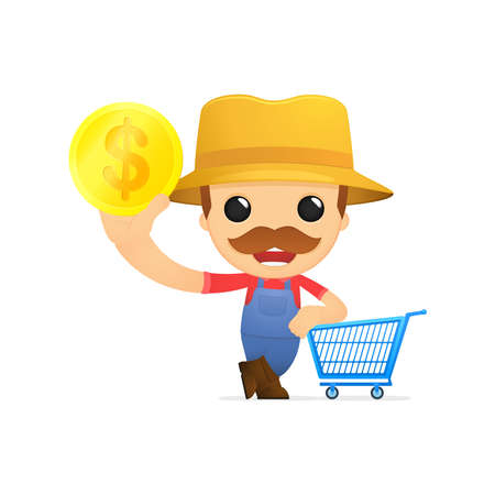 funny cartoon farmer Stock Vector - 13429537