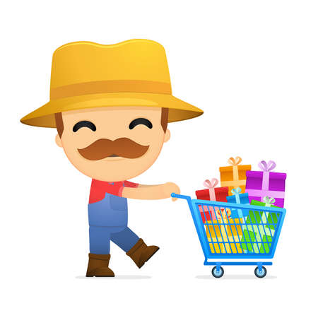 funny cartoon farmer Stock Vector - 13429551