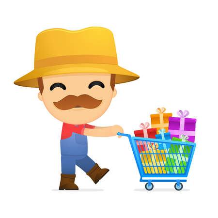 funny cartoon farmer Stock Vector - 13429551