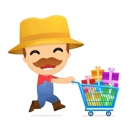 funny cartoon farmer Stock Vector - 13429558