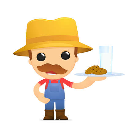 funny cartoon farmer Stock Vector - 13429521