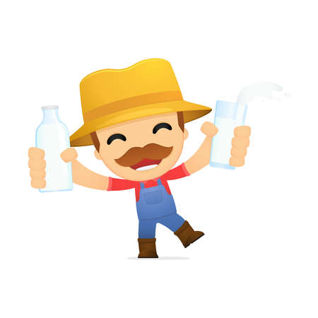 funny cartoon farmer Stock Vector - 13429416