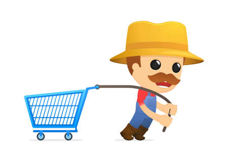 funny cartoon farmer Stock Vector - 13429492