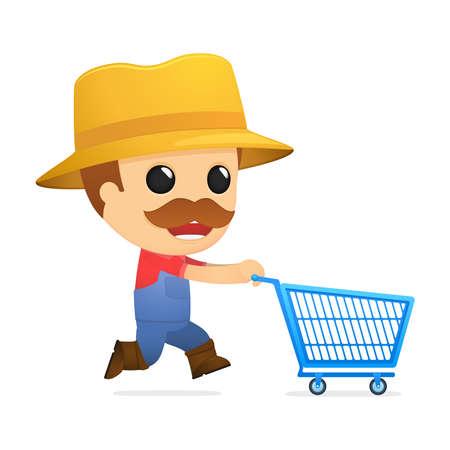 hick: funny cartoon farmer Illustration