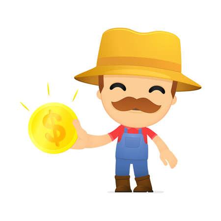 funny cartoon farmer Stock Vector - 13429493