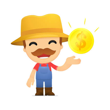 funny cartoon farmer Stock Vector - 13429501