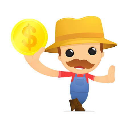 funny cartoon farmer Stock Vector - 13429511