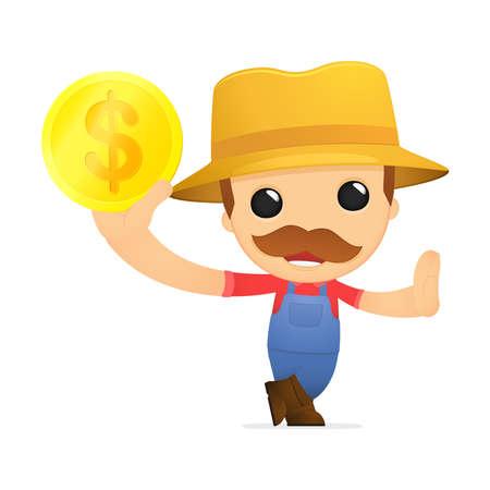 funny cartoon farmer Stock Vector - 13429511