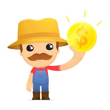 funny cartoon farmer Stock Vector - 13429504