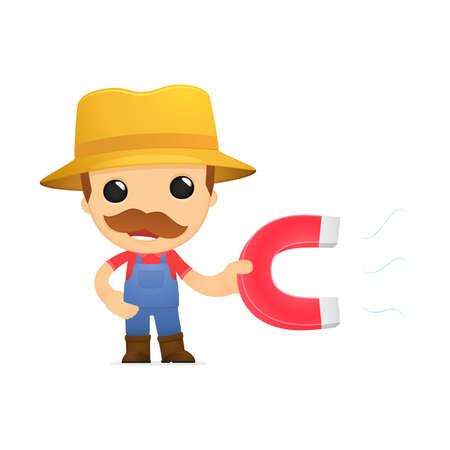 lodestone: funny cartoon farmer Illustration