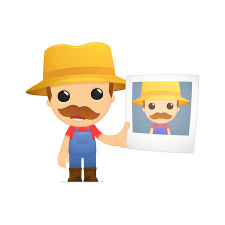 funny cartoon farmer Stock Vector - 13429529