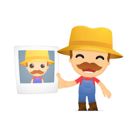 funny cartoon farmer Stock Vector - 13429525