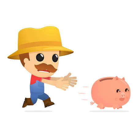 funny cartoon farmer Stock Vector - 13429484