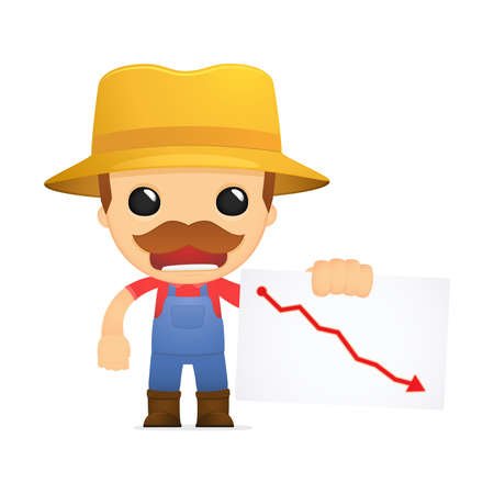 funny cartoon farmer Stock Vector - 13429398