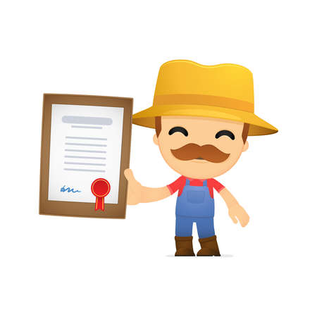 funny cartoon farmer Stock Vector - 13429503