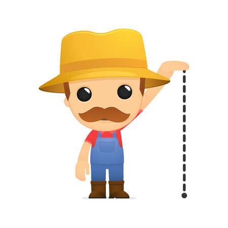 funny cartoon farmer Stock Vector - 13429329