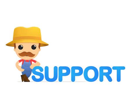 repair man: agricultor divertida caricatura