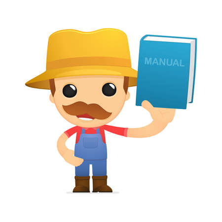 funny cartoon farmer Stock Vector - 13429495