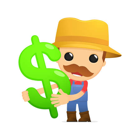 funny cartoon farmer Stock Vector - 13429453