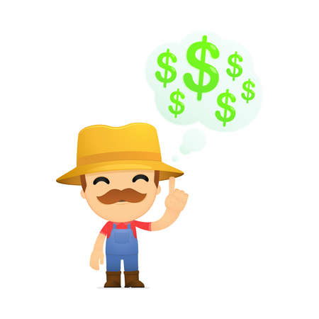 funny cartoon farmer Stock Vector - 13429499