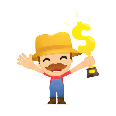 funny cartoon farmer Stock Vector - 13429422