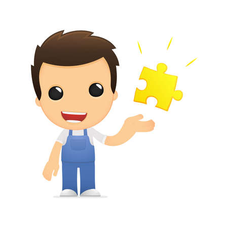 competencias laborales: mecánico de divertidos dibujos animados