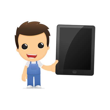 funny cartoon mechanic Stock Vector - 13502582