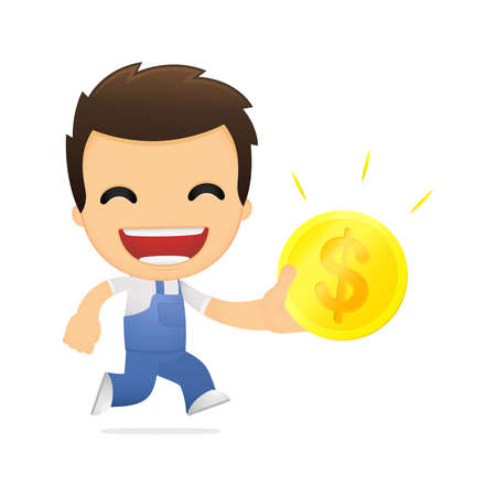 funny cartoon mechanic Stock Vector - 13514366