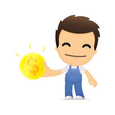 pipefitter: funny cartoon mechanic