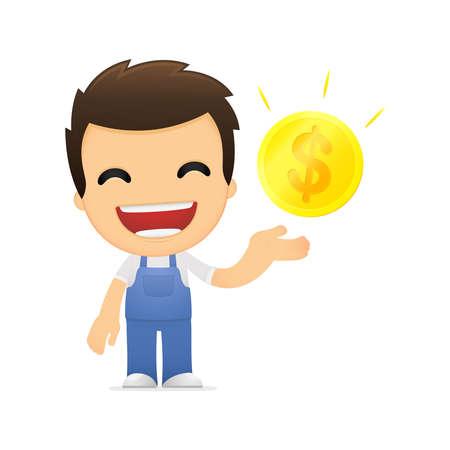 funny cartoon mechanic Stock Vector - 13514227