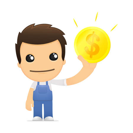 funny cartoon mechanic Stock Vector - 13514226